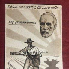 Postales: TARJETA POSTAL DE CAMPAÑA 1937 PLENA GUERRA CIVIL PSOE AGRUPACION SOCIALISTA MADRILEÑA ELCHE MADRID. Lote 156851042