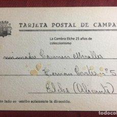 Postcards - TARJETA POSTAL DE CAMPAÑA 1937 PLENA GUERRA CIVIL PSOE AGRUPACION SOCIALISTA MADRILEÑA ELCHE MADRID - 156852490