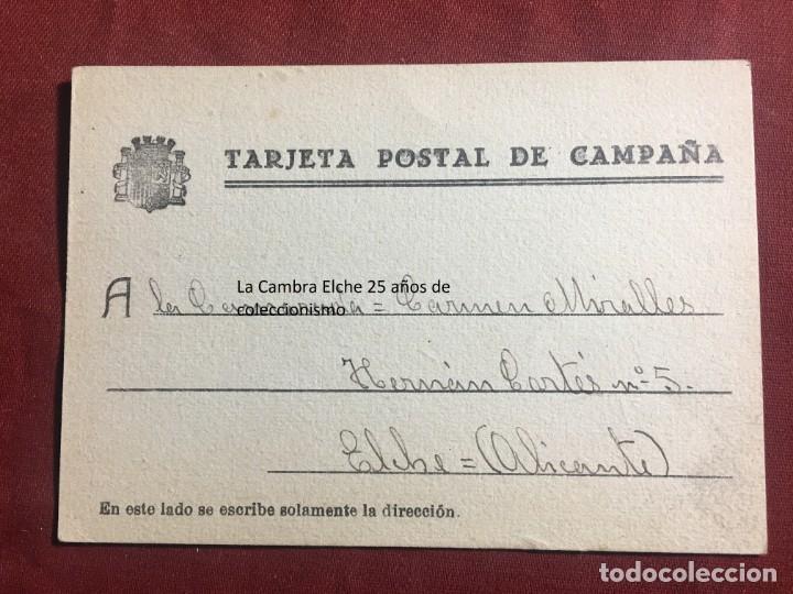 TARJETA POSTAL DE CAMPAÑA 1937 PLENA GUERRA CIVIL PSOE AGRUPACION SOCIALISTA MADRILEÑA ELCHE MADRID (Postales - Postales Temáticas - Guerra Civil Española)