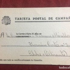 Postcards - TARJETA POSTAL DE CAMPAÑA 1937 PLENA GUERRA CIVIL PSOE AGRUPACION SOCIALISTA MADRILEÑA ELCHE MADRID - 156853182