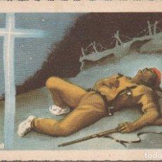 Postales: POSTAL ORIGINAL DOBLE GUERRA CIVIL, ANTE DIOS NUNCA SERAS HEROE ANONIMO. Lote 156867074