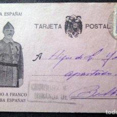 Postales: (JX-190375)TARJETA POSTAL , CENSURA MILITAR MIRANDA DE EBRO , SELLO LA FERRETERÍA MIRANDESA .. Lote 156925734