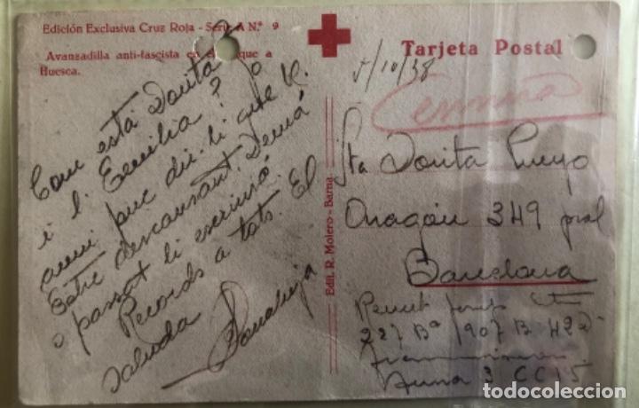 Postales: TARJETA POSTAL- GUERRA CIVIL- AVANZADILLA ANTIFASCISTA- - BARCELONA 1.938 - Foto 2 - 158407994