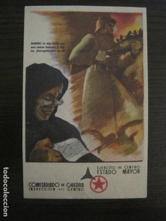 GUERRA CIVIL-EJERCITO CENTRO ESTADO MAYOR-COMISARIADO DE GUETRA-POSTAL ANTIGUA-VER FOTOS-(58.265) (Postales - Postales Temáticas - Guerra Civil Española)