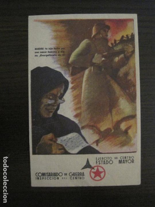 Postales: GUERRA CIVIL-EJERCITO CENTRO ESTADO MAYOR-COMISARIADO DE GUETRA-POSTAL ANTIGUA-VER FOTOS-(58.265) - Foto 2 - 158442266