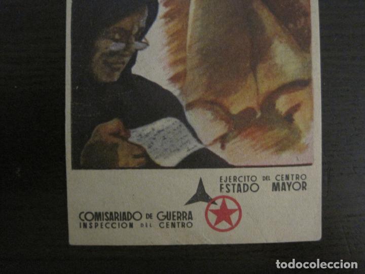 Postales: GUERRA CIVIL-EJERCITO CENTRO ESTADO MAYOR-COMISARIADO DE GUETRA-POSTAL ANTIGUA-VER FOTOS-(58.265) - Foto 4 - 158442266