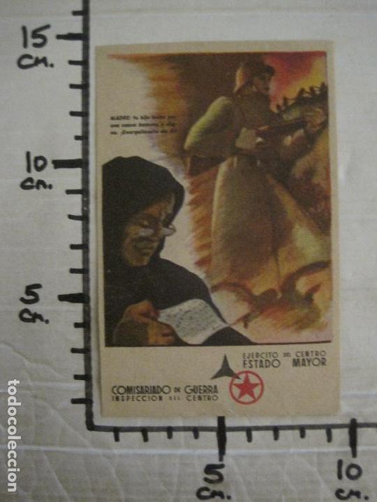 Postales: GUERRA CIVIL-EJERCITO CENTRO ESTADO MAYOR-COMISARIADO DE GUETRA-POSTAL ANTIGUA-VER FOTOS-(58.265) - Foto 6 - 158442266