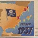 Postales: POSTAL NUEVA COMISSARIAT PROPAGANDA GENERALITAT FEBRERO 1937 GUERRA CIVIL LEVANTE BOMBARDEOS. Lote 158940670
