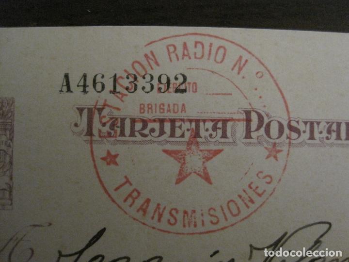 Postales: POSTAL GUERRA CIVIL-SELLO TAMPON ESTACION RADIO TRANSMISIONES-REPUBLICA ESPAÑOLA-VER FOTOS-(59.201) - Foto 3 - 162967626
