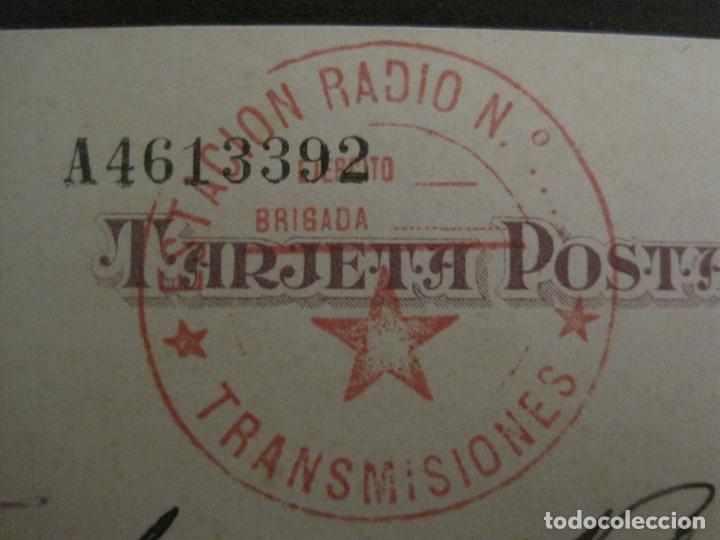 Postales: POSTAL GUERRA CIVIL-SELLO TAMPON ESTACION RADIO TRANSMISIONES-REPUBLICA ESPAÑOLA-VER FOTOS-(59.201) - Foto 7 - 162967626