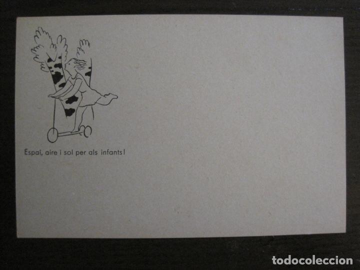 ACCIO EDUCATIVA-ESPAI AIRE I SOL PER ALS INFANTS-POSTAL GUERRA CIVIL-VER FOTOS-(59.197) (Postales - Postales Temáticas - Guerra Civil Española)