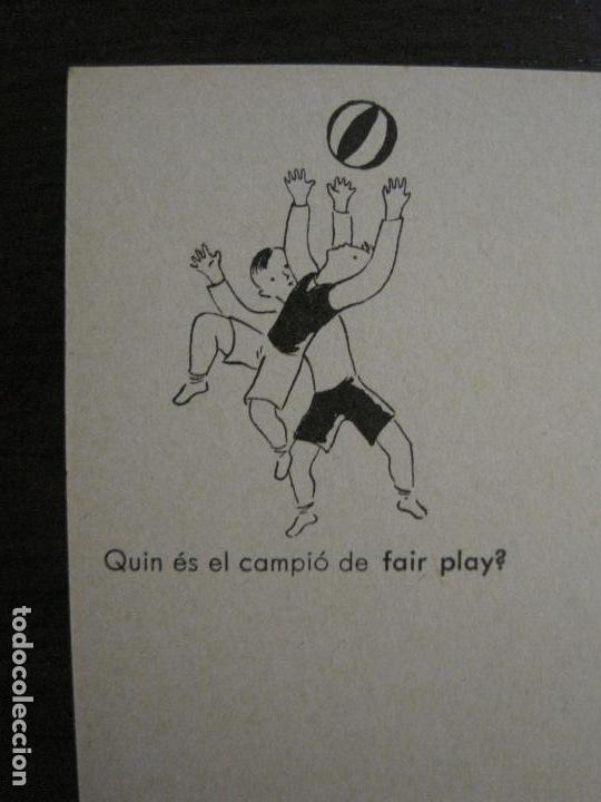 Postales: ACCIO EDUCATIVA-QUIN ES EL CAMPIO DE FAIR PLAY?-POSTAL GUERRA CIVIL-VER FOTOS-(59.199) - Foto 2 - 162968934