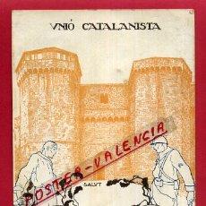 Postales: POSTAL GUERRA CIVIL , REPUBLICANA , UNIO CATALANISTA , ORIGINAL , P563. Lote 163951002