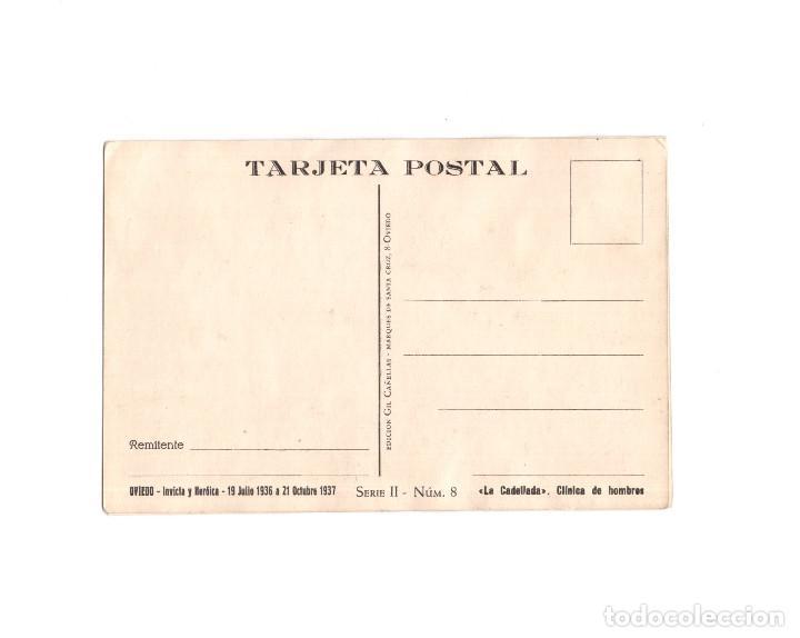 Postales: OVIEDO CIUDAD MARTIR,INVICTA E INVENCIBLE - JULIO DE 1936 A OCTUBRE DE 1937. CAMION BLINDADO - Foto 2 - 164890958