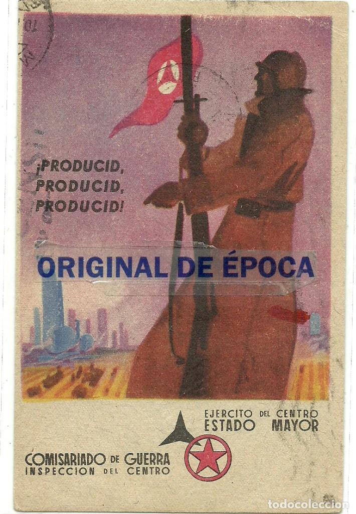 (XJ-190601)POSTAL ORIGINAL GUERRA CIVIL - REPUBLICANA - PRODUCIR - CIRCULADA (Postales - Postales Temáticas - Guerra Civil Española)
