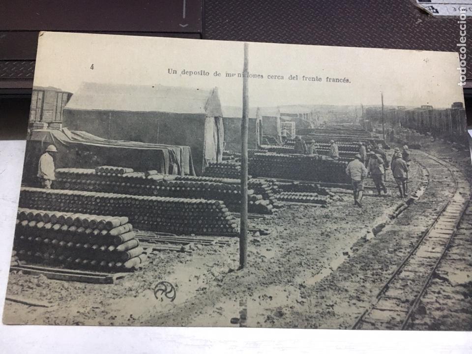 POSTAL ANTIGUA DEPOSITO DE MUNICIONES CERCA DEL FRENTE FRANCESC (Postales - Postales Temáticas - Guerra Civil Española)
