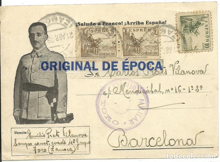 (XJ-190669)POSTAL CAMPO DE CONCENTRACION DE TORO(ZAMORA)-PRISIONERO REPUBLICANO.CENSURA (Postales - Postales Temáticas - Guerra Civil Española)