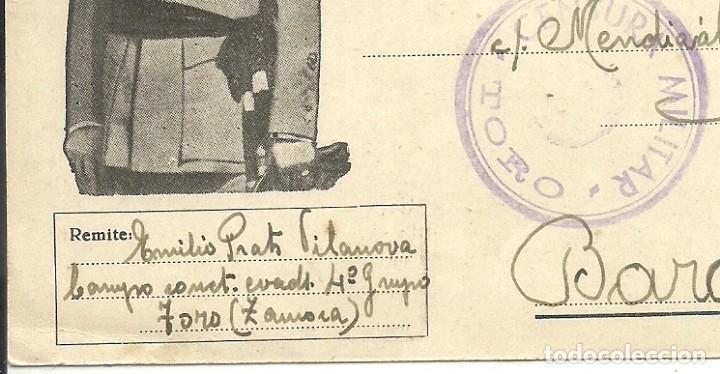 Postales: (XJ-190669)POSTAL CAMPO DE CONCENTRACION DE TORO(ZAMORA)-PRISIONERO REPUBLICANO.CENSURA - Foto 2 - 169288296