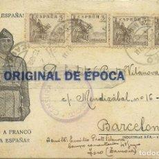 Postales: (XJ-190670)POSTAL CAMPO DE CONCENTRACION DE TORO(ZAMORA)-PRISIONERO REPUBLICANO.CENSURA. Lote 169288404