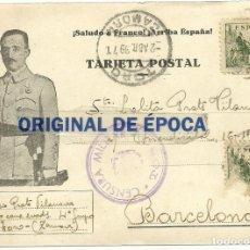 Postales: (XJ-190702)POSTAL CAMPO DE CONCENTRACION DE TORO(ZAMORA)-PRISIONERO REPUBLICANO.CENSURA. Lote 170069556