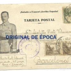 Postales: (XJ-190704)POSTAL CAMPO DE CONCENTRACION DE TORO(ZAMORA)-PRISIONERO REPUBLICANO.CENSURA. Lote 170069988