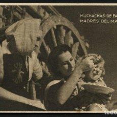 Postales: GUERRA CIVIL POST, TARJETA POSTAL, MUCHACHAS DE FALANGE, 1944. Lote 170951055