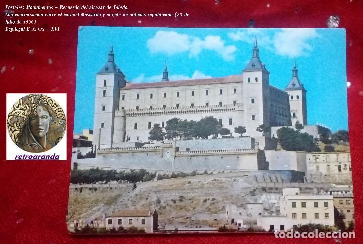 LIBRO - POSTALES TEMATICA GUERRA CIVIL,MONUMENTOS... *ALCAZAR DE TOLEDO* ... 12 POSTALES. (Postales - Postales Temáticas - Guerra Civil Española)