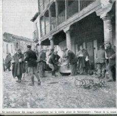 Postales: NAVALCARNERO-AVITUALLAMIENTO TROPAS NACIONALES-HORA DEL RANCHO-1936-GUERRA CIVIL-RECORTE REVISTA. Lote 171341197