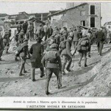 Postales: MANRESA- LA INSURRECCIÓN EN EL ALTO LLOBREGAT 1932- EL EJERCITO LLEGA A MANRESA. RECORTE DE PRENSA-. Lote 171341919