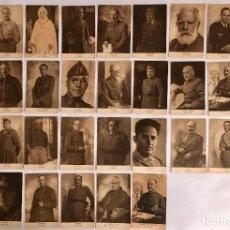 Postales: COLECCIÓN DE 33 POSTALES DE RETRATOS DE GENERALES FRANQUISTAS. Lote 172075269