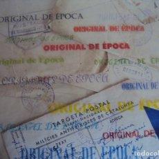 Postales: (XJ-190723)LOTE DE 1 POSTAL Y 4 SOBRES CENSURAS TENIENTE BRIGADA MIXTA - GUERRA CIVIL. Lote 172207559