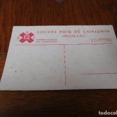 Postales: POSTAL SOCORS ROIG DE CATALUNYA S.R.I. SIN CIRCULAR. Lote 175037892