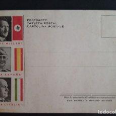 Postales: GUERRA CIVIL. TARJETA POSTAL FRANCO HITLER Y MUSSOLINI.. Lote 175519422