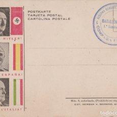 Postales: TARJETA POSTAL GUERRA CIVIL E - ¡HEIL HITLER! ¡VIVA ESPAÑA! ¡VIVA L´ITALIA! - EDITA HERGAN V. MOREN. Lote 177763973