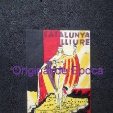 Postales: (JX-191000)TARJETA POSTAL GUERRA CIVIL,CATALUNYA LLUIRE,SELLO MILICIAS ANTIFASCISTAS,1ª COLUMNA. Lote 177881524