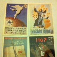 Postales: GUERRA CIVIL ESPAÑOLA -LOTE 10 POSTALES PROPAGANDA (REPRODUCCIONES INGLESAS) - NUEVAS. Lote 178131958