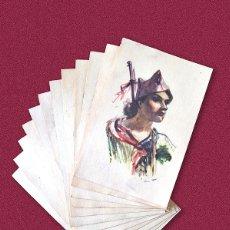 Postales: 12 POSTALES DE 1936 ESTAMPAS DE LA REVOLUCION ESPAÑOLA - BANDO REPUBLICANO DE LA GUERRA CIVIL. Lote 178445302