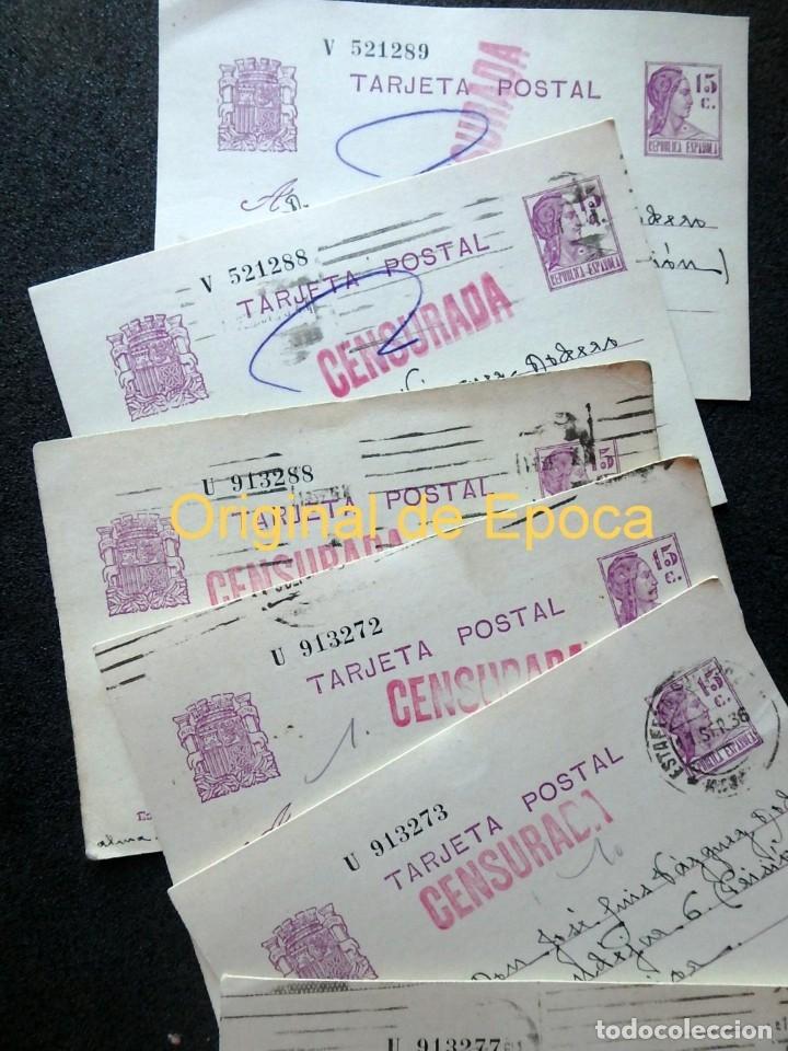 Postales: (JX-191088)LOTE DE 82 TARJETAS POSTALES GUERRA CIVIL.REMITIDAS A JOSE LUIS VAZQUEZ DODERO,PERIODISTA - Foto 2 - 178722716