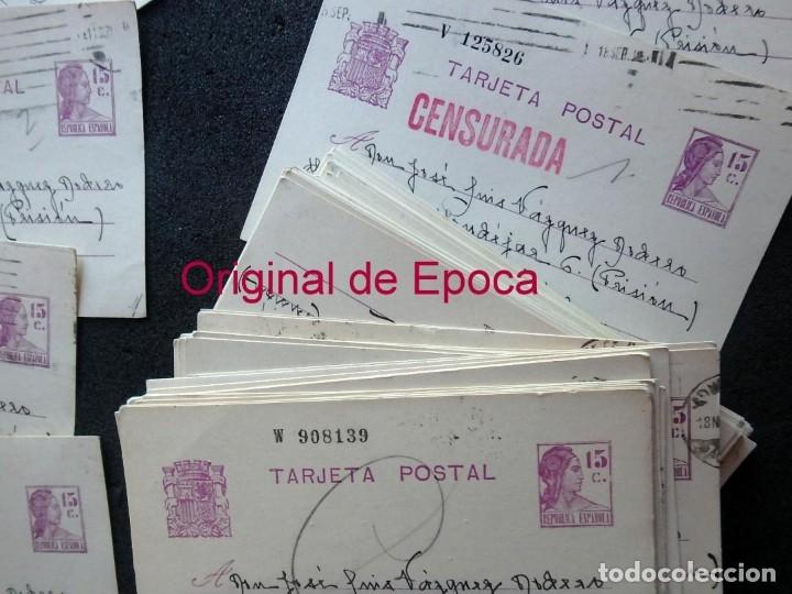 Postales: (JX-191088)LOTE DE 82 TARJETAS POSTALES GUERRA CIVIL.REMITIDAS A JOSE LUIS VAZQUEZ DODERO,PERIODISTA - Foto 3 - 178722716