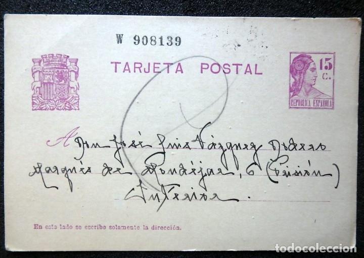 Postales: (JX-191088)LOTE DE 82 TARJETAS POSTALES GUERRA CIVIL.REMITIDAS A JOSE LUIS VAZQUEZ DODERO,PERIODISTA - Foto 7 - 178722716