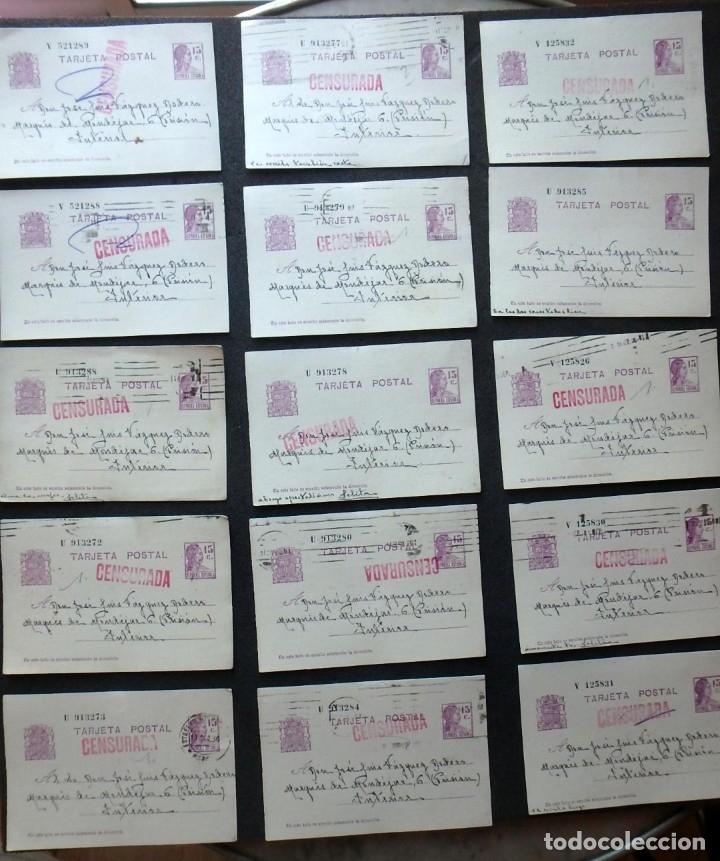 Postales: (JX-191088)LOTE DE 82 TARJETAS POSTALES GUERRA CIVIL.REMITIDAS A JOSE LUIS VAZQUEZ DODERO,PERIODISTA - Foto 10 - 178722716