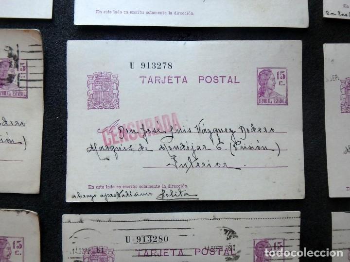 Postales: (JX-191088)LOTE DE 82 TARJETAS POSTALES GUERRA CIVIL.REMITIDAS A JOSE LUIS VAZQUEZ DODERO,PERIODISTA - Foto 11 - 178722716