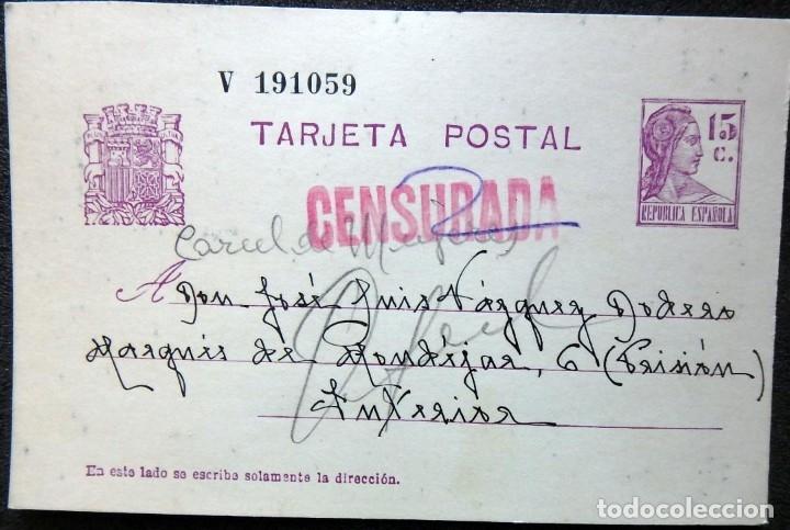 Postales: (JX-191088)LOTE DE 82 TARJETAS POSTALES GUERRA CIVIL.REMITIDAS A JOSE LUIS VAZQUEZ DODERO,PERIODISTA - Foto 16 - 178722716