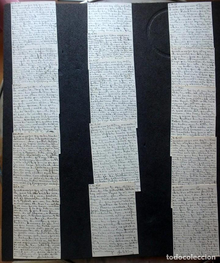 Postales: (JX-191088)LOTE DE 82 TARJETAS POSTALES GUERRA CIVIL.REMITIDAS A JOSE LUIS VAZQUEZ DODERO,PERIODISTA - Foto 17 - 178722716