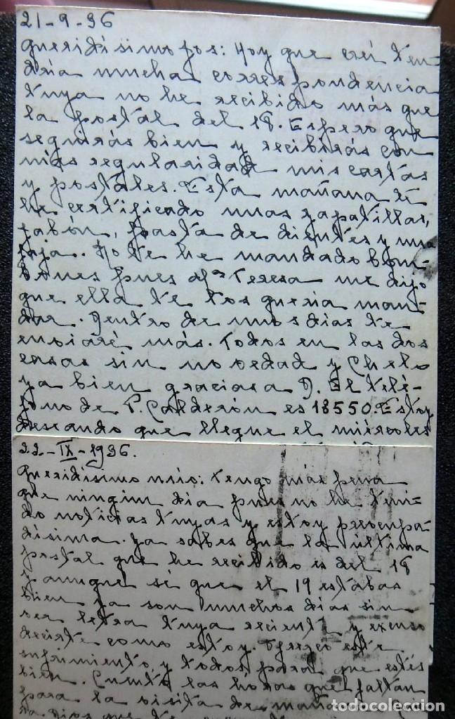 Postales: (JX-191088)LOTE DE 82 TARJETAS POSTALES GUERRA CIVIL.REMITIDAS A JOSE LUIS VAZQUEZ DODERO,PERIODISTA - Foto 18 - 178722716