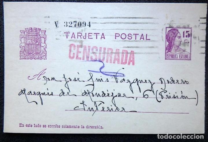 Postales: (JX-191088)LOTE DE 82 TARJETAS POSTALES GUERRA CIVIL.REMITIDAS A JOSE LUIS VAZQUEZ DODERO,PERIODISTA - Foto 21 - 178722716