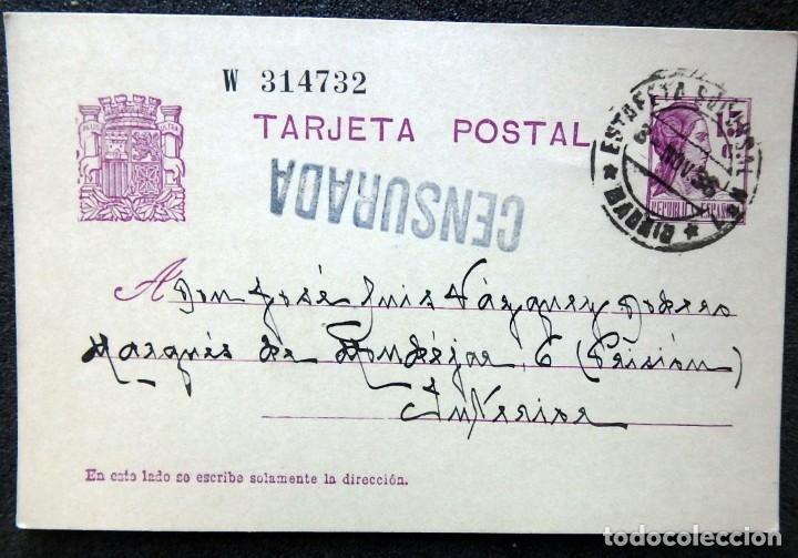Postales: (JX-191088)LOTE DE 82 TARJETAS POSTALES GUERRA CIVIL.REMITIDAS A JOSE LUIS VAZQUEZ DODERO,PERIODISTA - Foto 29 - 178722716