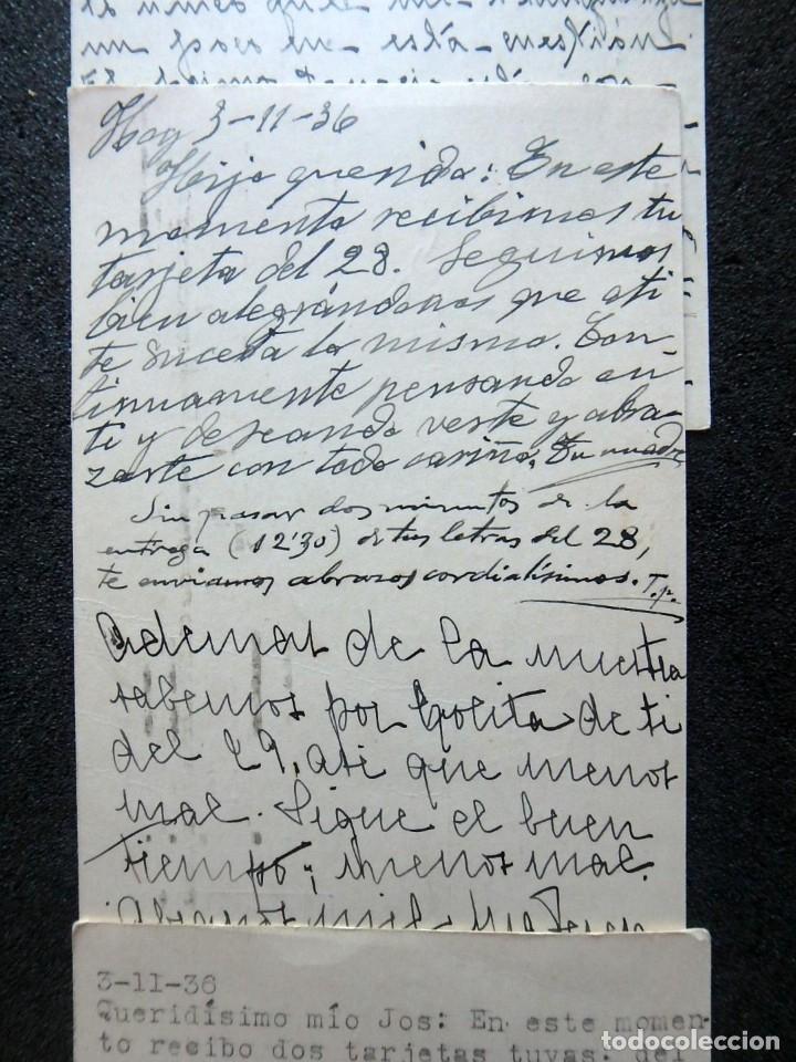 Postales: (JX-191088)LOTE DE 82 TARJETAS POSTALES GUERRA CIVIL.REMITIDAS A JOSE LUIS VAZQUEZ DODERO,PERIODISTA - Foto 32 - 178722716
