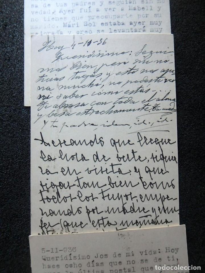 Postales: (JX-191088)LOTE DE 82 TARJETAS POSTALES GUERRA CIVIL.REMITIDAS A JOSE LUIS VAZQUEZ DODERO,PERIODISTA - Foto 33 - 178722716