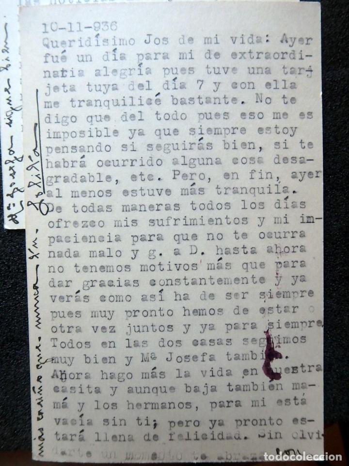 Postales: (JX-191088)LOTE DE 82 TARJETAS POSTALES GUERRA CIVIL.REMITIDAS A JOSE LUIS VAZQUEZ DODERO,PERIODISTA - Foto 34 - 178722716